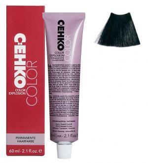 Крем-фарба для волосся C:EHKO Color Explosion №1/1 Синьо-чорний 60 мл