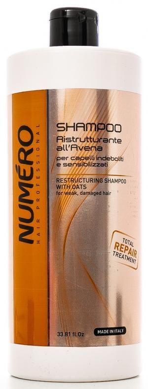 Відновлюючий шампунь для волосся з екстрактом вівса Brelil Numero 1000 мл - 00-00000104