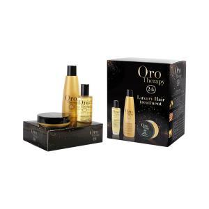 Набір 'Золота терапія' (шампунь+маска+флюїд) Fanola Oro Therapy - 00-00000250