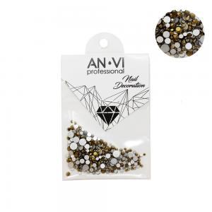 Стразы сваровски ANVI Professional MIX золотые №14 200 шт - 00-00000884