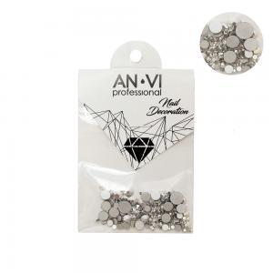 Стразы сваровски ANVI Professional MIX серебряные №13 200 шт - 00-00000889