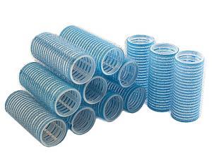 Бигуди на липучке Sibel голубые 28 мм*12 шт - 00-00001159