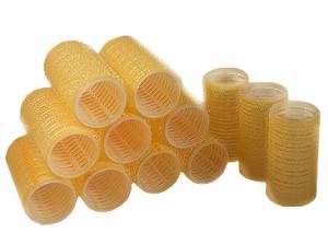 Бигуди на липучке Sibel желтые 32 мм*12 шт - 00-00001160