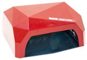 Професійна LED-лампа з сенсором для полімеризації гелю, червона 36W - 00-00001184
