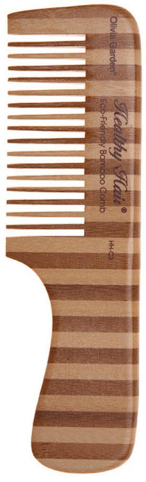 Расческа бамбуковая Olivia Garden Comd 3 Healthy Hair  - 00-00001509