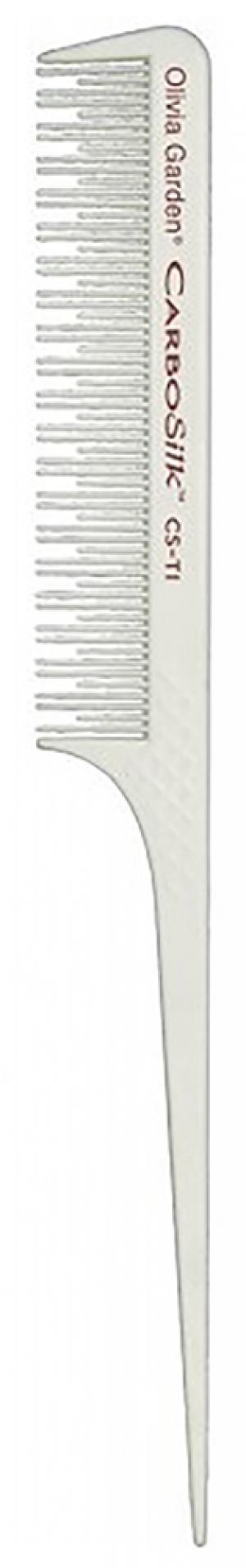 Расческа с пластиковым хвостиком для начеса Olivia Garden Carbon+Ion ST1  - 00-00001515