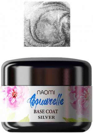 База для гель-лаку Naomi 'Aquaurelle' Base Silver  5 г. - 00-00001727