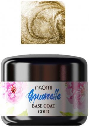 База для гель-лаку Naomi 'Aquaurelle' Base Gold  5 г. - 00-00001729