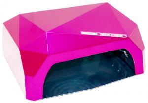 Професійна LED-лампа з сенсором для полімеризації гелю, рожева 36W - 00-00001778