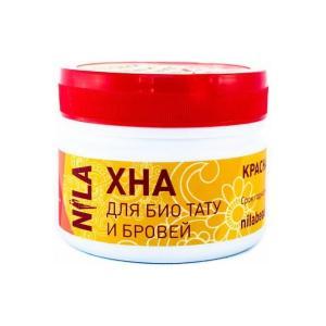 Хна для фарбування брів і біо-тату NILA Червона 50 г - 00-00002737