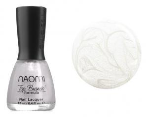 Лак для нігтів Naomi №002 Щільний перламутровий перлово-білий (емаль) 12 мл - 00-00004382
