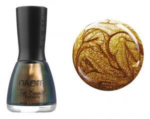Лак для нігтів №044 Naomi Темно-жовтий з блискітками 12мл - 00-00004424