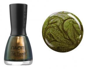 Лак для нігтів №047 Naomi Темно-оливковий з блискітками 12мл - 00-00004427