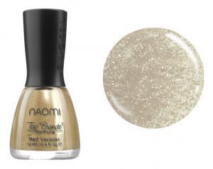 Лак для нігтів №048 Naomi Сірий з жовтими блискітками 12мл - 00-00004428