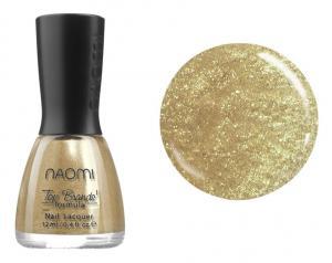 Лак для нігтів №049 Naomi Жовтий з блискітками 12мл - 00-00004429