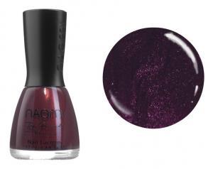 Лак для нігтів №057 Naomi Темний вишневий з фіолетовим відтінком і блискітками 12мл - 00-00004437