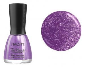 Лак для нігтів №066 Naomi Фіолетовий з блискітками 12мл - 00-00004446