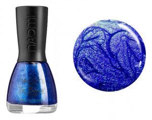 Лак для нігтів №070 Naomi Синій з блискітками 12мл - 00-00004450