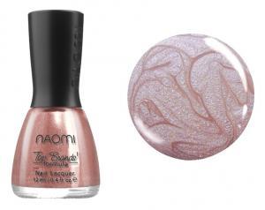 Лак для нігтів №078 Naomi Бежевий з рожевими блискітками 12мл - 00-00004458