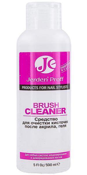 Жидкость для очищения кистей после акрила и геля Jerden Proff Brush Cleaner 500 мл - 00-00004592