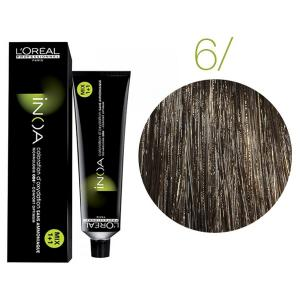 Крем-краска для волос L'Oreal Professionnel INOA Mix 1+1 №6 Натуральный темный блонд 60 мл - 00-00004676