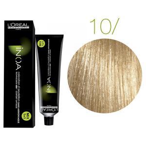 Крем-краска для волос L'Oreal Professionnel INOA Mix 1+1 №10 Platinblond 60 мл - 00-00004680