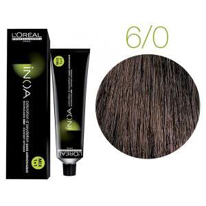 Крем-краска для волос L'Oreal Professionnel INOA Mix 1+1 №6/0 Глубокий светло-русый 60 мл - 00-00004684