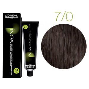 Крем-краска для волос L'Oreal Professionnel INOA Mix 1+1 №7/0 Темный шатен 60 мл - 00-00004685