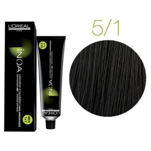 Крем-фарба для волосся L'Oreal Professionnel INOA Mix 1+1 №5/1 Світлий попелястий шатен 60 мл - 00-00004687