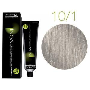 Крем-фарба для волосся L'Oreal Professionnel INOA Mix 1+1 №10/1 Платиновий попелястий блонд 60 мл - 00-00004692