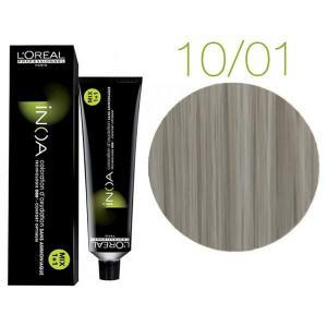Крем-краска для волос L'Oreal Professionnel INOA Mix 1+1 №10/01 Светлый платиновый пепельный блонд 60 мл - 00-00004693