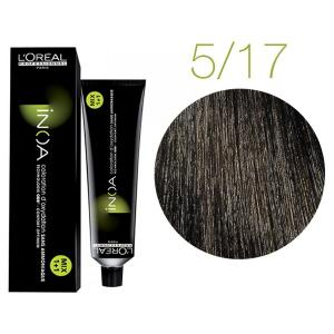 Крем-краска для волос L'Oreal Professionnel INOA Mix 1+1 №5/17 Светлый шатен пепельный мокка 60 мл - 00-00004694
