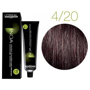 Крем-краска для волос L'Oreal Professionnel INOA Mix 1+1 № 4/20 Сливовый 60 мл - 00-00004695