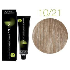 Крем-краска для волос L'Oreal Professionnel INOA Mix 1+1 №10/21 Platinblond Irise Asch 60 мл - 00-00004698
