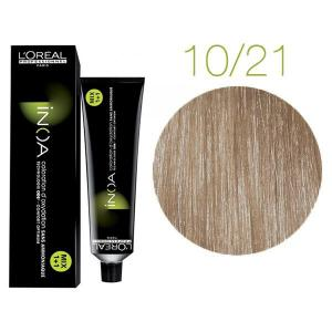 Крем-фарба для волосся L'Oreal Professionnel INOA Mix 1+1 №10/21 Platinblond Irise Asch 60 мл - 00-00004698