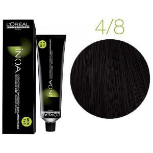 Крем-краска для волос L'Oreal Professionnel INOA Mix 1+1 №4/8 Шатен мокко 60 мл - 00-00004699