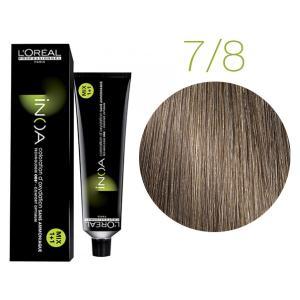 Крем-краска для волос L'Oreal Professionnel INOA Mix 1+1 №7/8 Блонд мокко 60 мл - 00-00004703