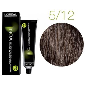 Крем-краска для волос L'Oreal Professionnel INOA Mix 1+1 №5/12 Светлый шатен пепельно-перламутровый 60 мл - 00-00004710
