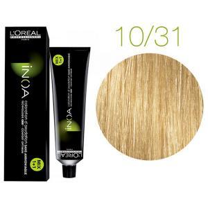 Крем-краска для волос L'Oreal Professionnel INOA Mix 1+1 №10/31 Gold blond light 60 мл - 00-00004713