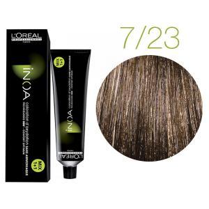 Крем-фарба для волосся L'Oreal Professionnel INOA Mix 1+1 №7/23 Середній блонд перлинно-золотистий  60 мл - 00-00004716