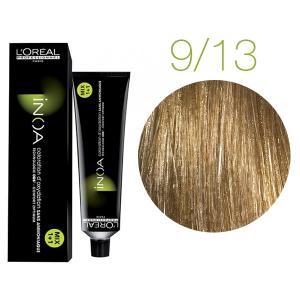 Крем-фарба для волосся L'Oreal Professionnel INOA Mix 1+1 №9/13 Дуже світлий блонд попелясто-золотистий 60 мл - 00-00004719