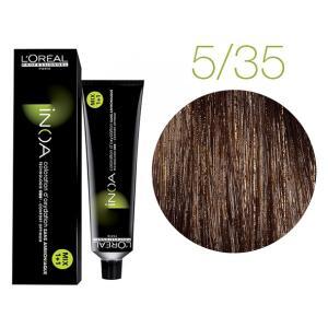 Крем-краска для волос L'Oreal Professionnel INOA Mix 1+1 №5/35 Светлый шатен золотистый махагон 60 мл - 00-00004723