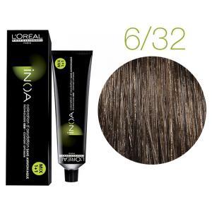 Крем-краска для волос L'Oreal Professionnel INOA Mix 1+1 №6/32 Темный перламутровый золотистый блонд 60 мл - 00-00004725
