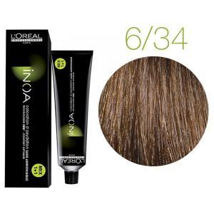 Крем-фарба для волосся L'Oreal Professionnel INOA Mix 1+1 №6/34 Медово-коричневий 60 мл - 00-00004728