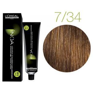 Крем-фарба для волосся L'Oreal Professionnel INOA Mix 1+1 №7/34 Блондин золотисто-мідний 60 мл - 00-00004732