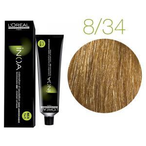 Крем-фарба для волосся L'Oreal Professionnel INOA Mix 1+1 №8/34 Світлий блонд золотисто-мідний 60 мл - 00-00004733