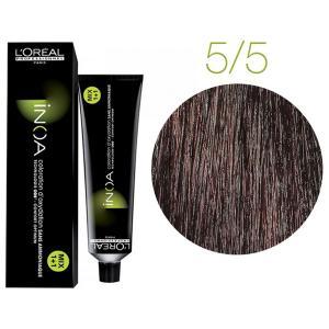 Крем-фарба для волосся L'Oreal Professionnel INOA Mix 1+1 №5/5 Мідний темний шатен 60 мл - 00-00004741