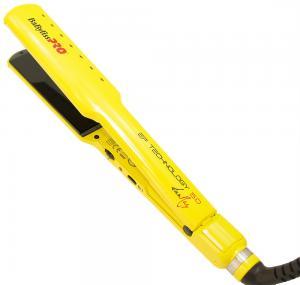 Щипцы BaByliss с терморегулятором и нанотитановыми пластинами, желтые - 00-00005509