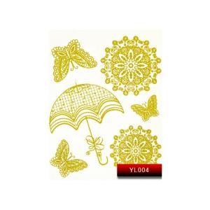 Наклейка для дизайну нігтів Kodi Professional 'Gold' Nail Art Stickers YL004