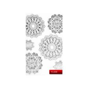 Наклейка для дизайну нігтів Kodi Professional 'Silver' Nail Art Stickers YL006